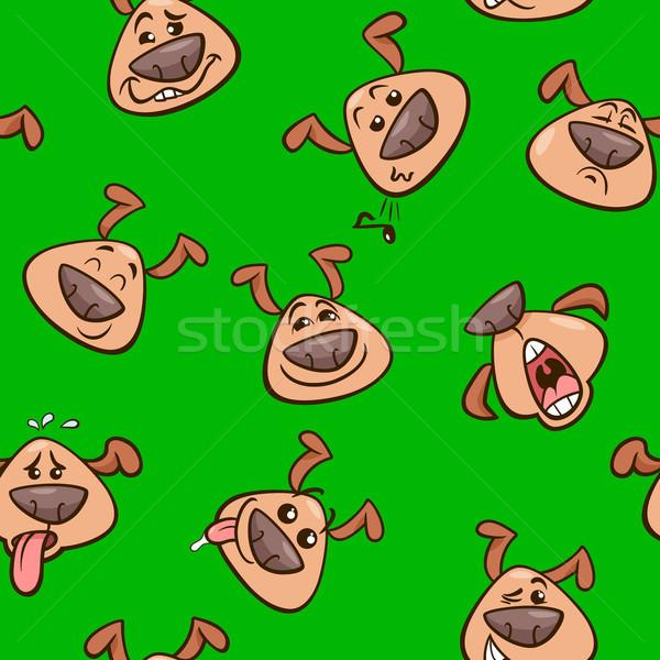 Сток-фото: Cartoon · обои · дизайна · собаки · иллюстрация · животного