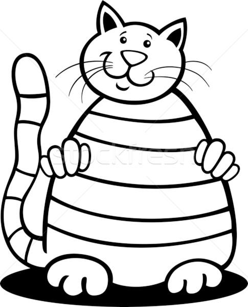 tabby cat for coloring Stock photo © izakowski
