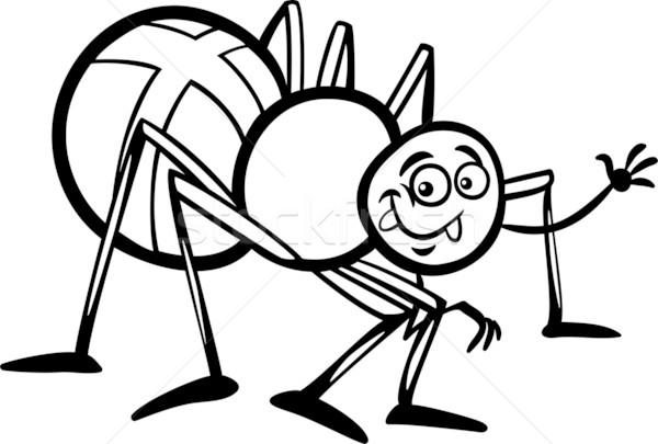 Cross Spider Cartoon For Coloring Book Vector Illustration C Igor Zakowski Izakowski 2604457