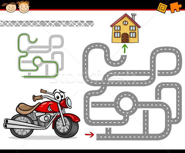 Desenho animado labirinto labirinto jogo ilustração educação Foto stock © izakowski