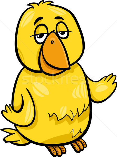 canary bird character cartoon illustration Stock photo © izakowski