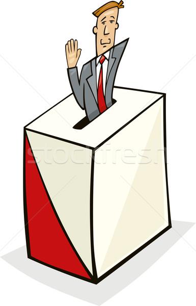 Man in Ballot Box Stock photo © izakowski