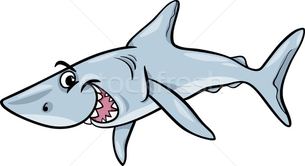 shark animal cartoon illustration Stock photo © izakowski