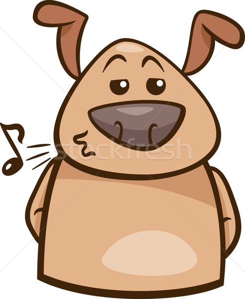 mood chill dog cartoon illustration Stock photo © izakowski