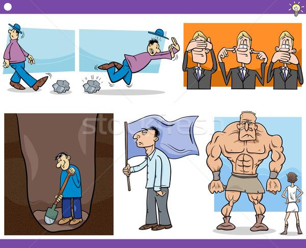 Cartoon concetti detti set illustrazione Foto d'archivio © izakowski