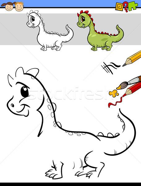 Disegno compito ragazzi cartoon illustrazione Foto d'archivio © izakowski