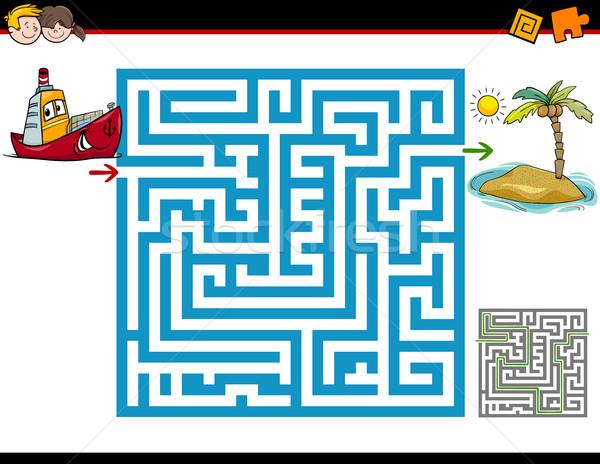 Labyrinthe activité enfants cartoon illustration éducation Photo stock © izakowski