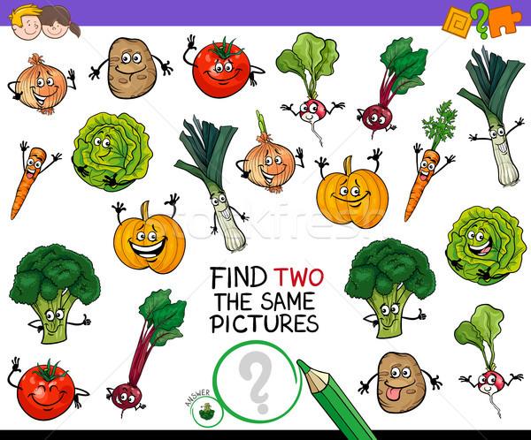 Bulmak iki sebze oyun karikatür örnek Stok fotoğraf © izakowski