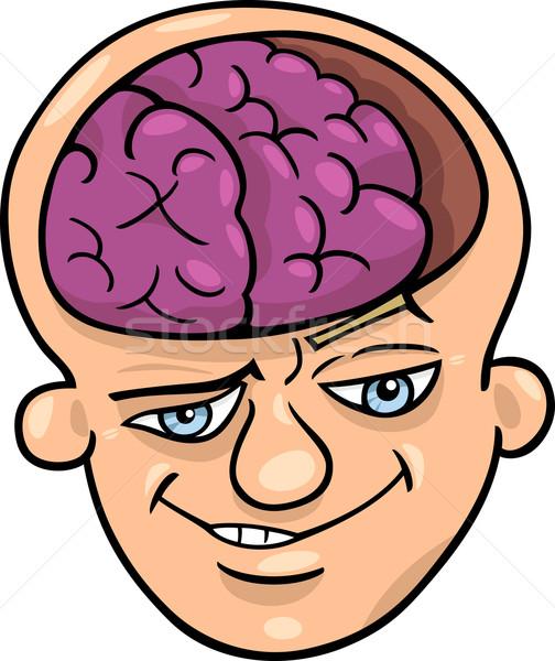 Eszes férfi rajz humoros illusztráció okos Stock fotó © izakowski