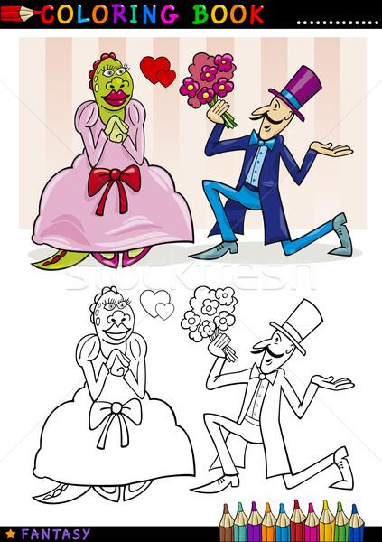 Proposal to monster for coloring Stock photo © izakowski