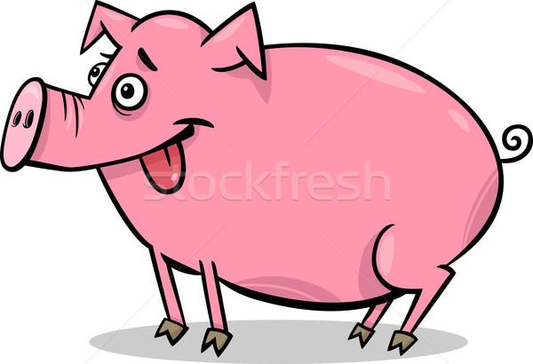 pig farm animal cartoon illustration Stock photo © izakowski