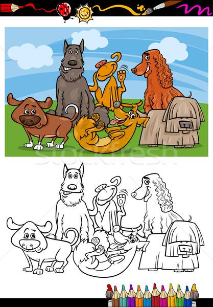 Komik Kopekler Karikatur Boyama Kitabi Sayfa Ornek