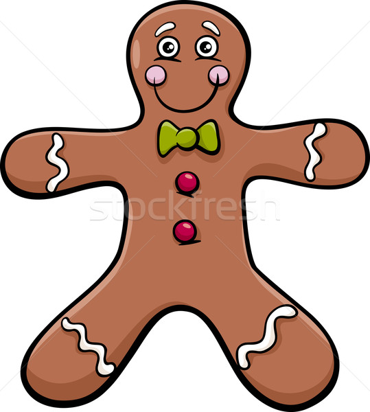 gingerbread man cartoon illustration Stock photo © izakowski