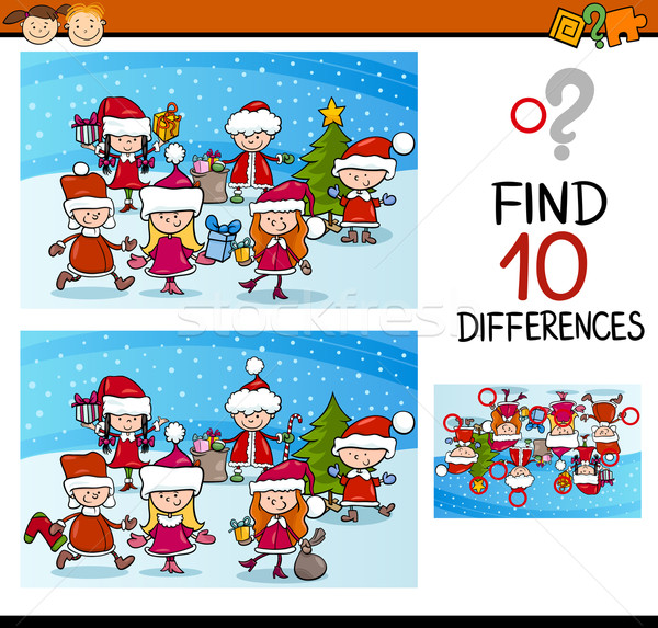 xmas differences task for kids Stock photo © izakowski