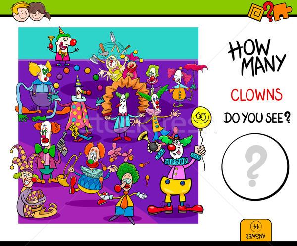 how many clowns educational game Stock photo © izakowski