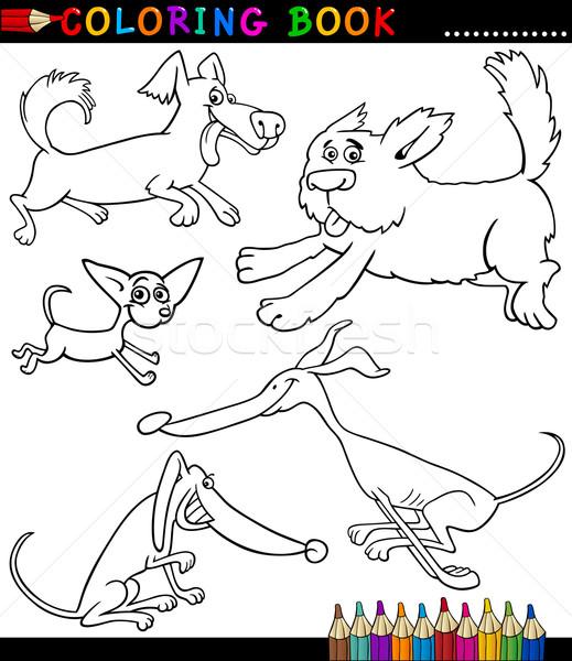 desenho animado cães filhotes de cachorro livro para