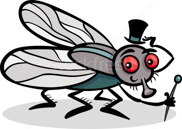 housefly insect cartoon illustration Stock photo © izakowski