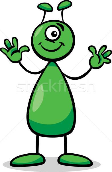 Idegen rajz illusztráció vicces képregény karakter Stock fotó © izakowski