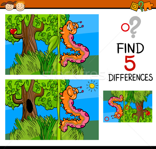 preschool differences game Stock photo © izakowski