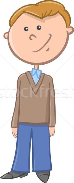 Jongen karakter cartoon illustratie leeftijd Stockfoto © izakowski