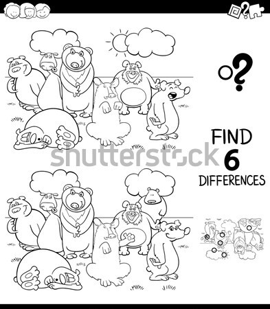 differences game coloring book Stock photo © izakowski