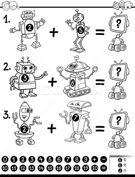 maths educational coloring page Stock photo © izakowski