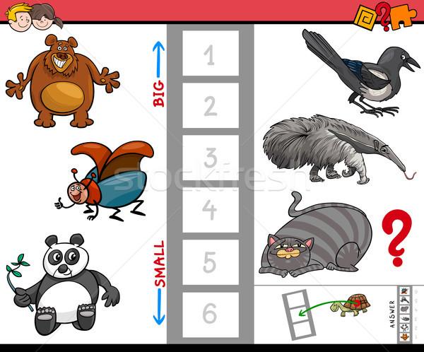 ストックフォト: ビッグ · 小 · 動物 · ゲーム · 子供