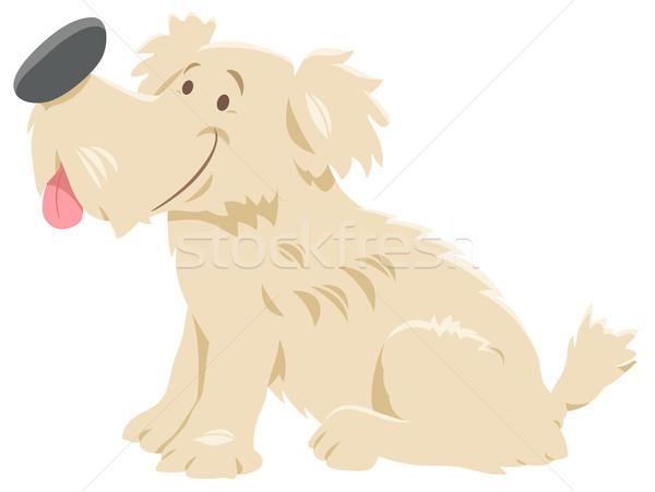 Aranyos kócos kutya rajzfilmfigura rajz illusztráció Stock fotó © izakowski