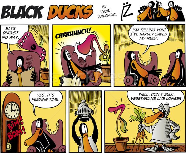 Black Ducks Comics episode 75 Stock photo © izakowski