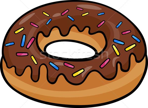 Donut clip art cartoon illustratie zoete cake Stockfoto © izakowski