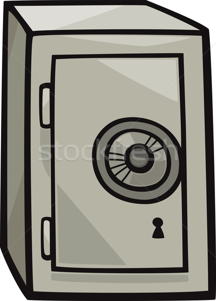 safe clip art cartoon illustration Stock photo © izakowski