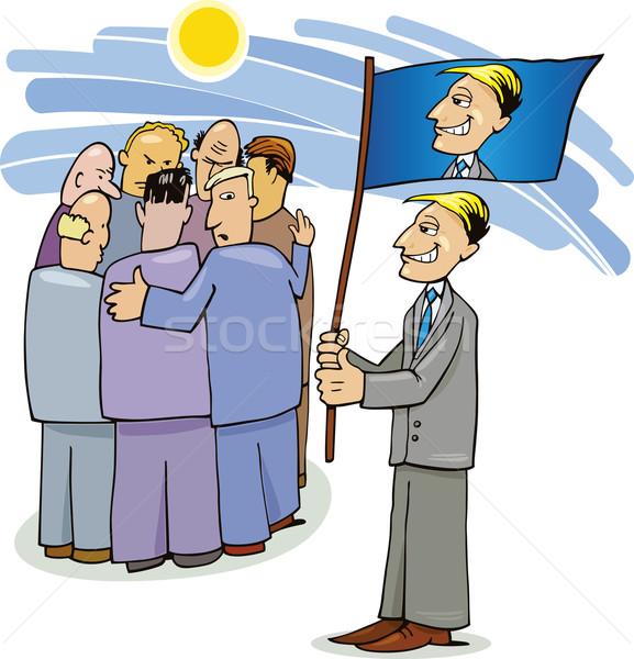 選挙 キャンペーン 会議 実例 笑顔 男 ストックフォト © izakowski