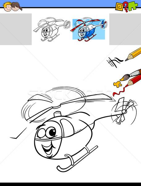 Trekken kleur activiteit taak cartoon illustratie Stockfoto © izakowski