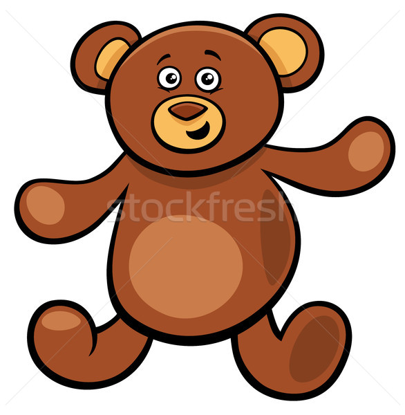 Sevimli oyuncak ayı karikatür oyuncak karakter örnek Stok fotoğraf © izakowski