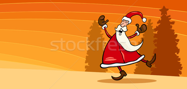 happy Santa Claus cartoon card Stock photo © izakowski