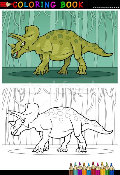 Stock fotó: Rajz · dinoszaurusz · kifestőkönyv · illusztráció · hüllő · fajok
