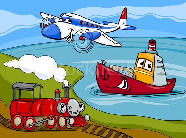 Рисунок самолета и корабля