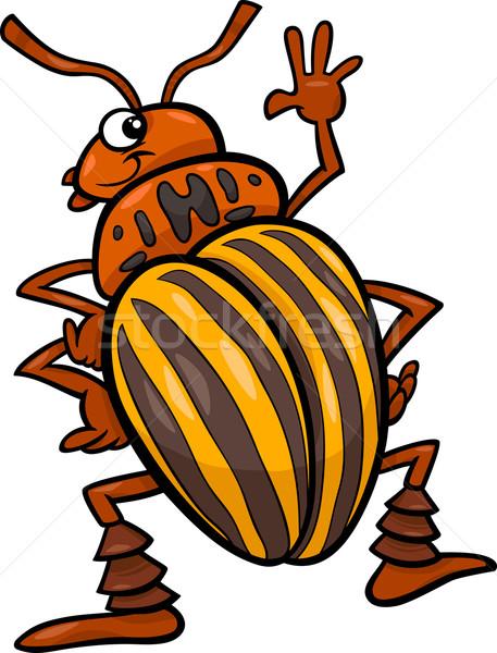 potato beetle insect cartoon illustration Stock photo © izakowski