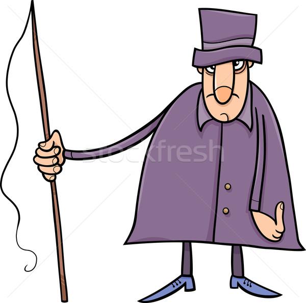 Karakter cartoon illustratie man tekening grafische Stockfoto © izakowski