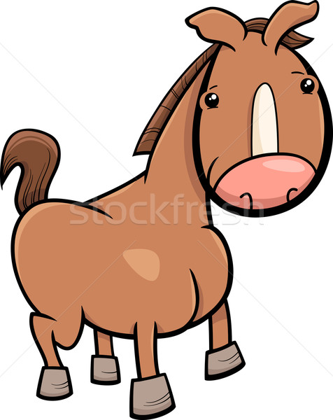 Stock photo: little horse or foal cartoon