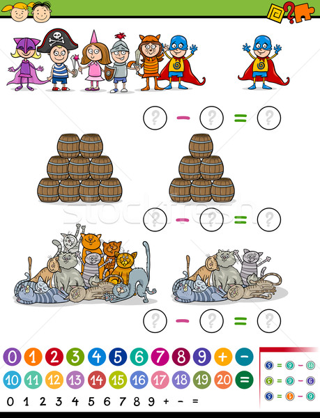 math game cartoon illustration Stock photo © izakowski