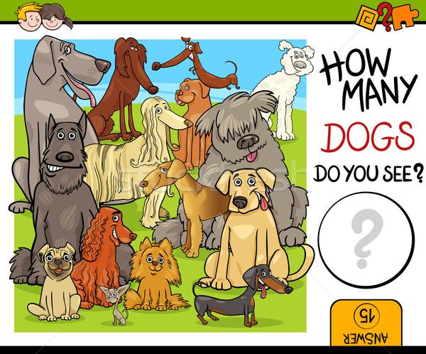 деятельность собаки Cartoon иллюстрация образовательный задача Сток-фото © izakowski