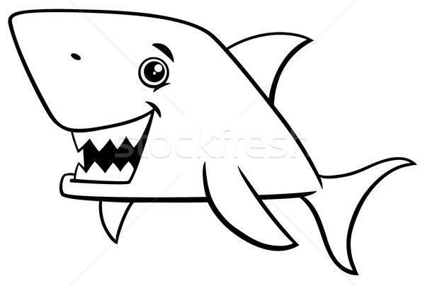 shark fish coloring page Stock photo © izakowski