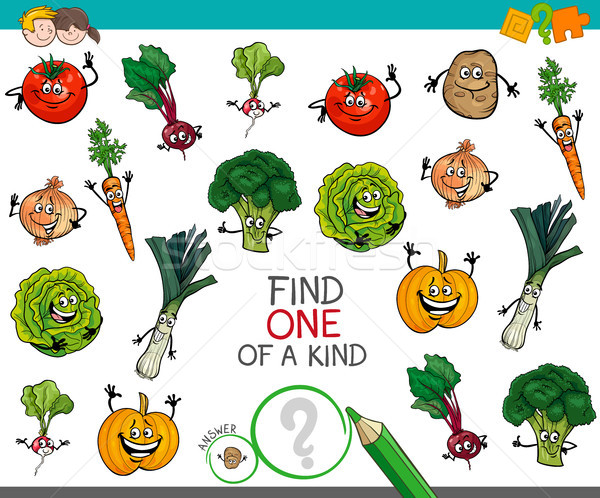 one of a kind game with vegetable characters Stock photo © izakowski