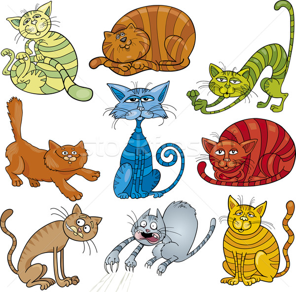 cartoon cats set Stock photo © izakowski