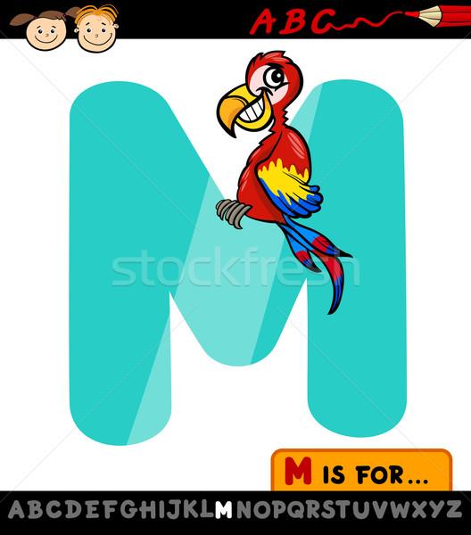 Mektup m karikatür örnek alfabe çocuklar Stok fotoğraf © izakowski