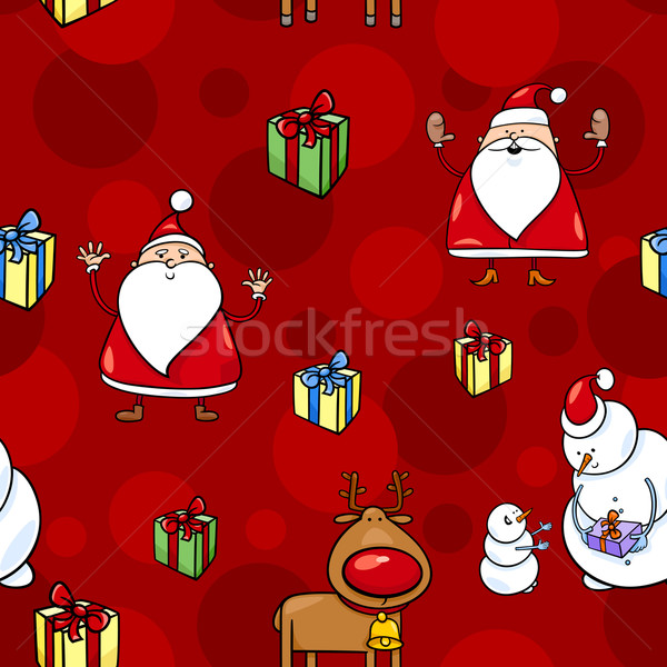 christmas cartoon seamless pattern Stock photo © izakowski