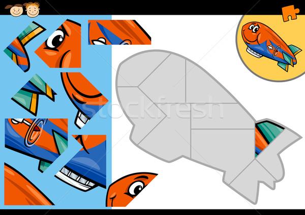 Zdjęcia stock: Cartoon · sterowiec · gry · ilustracja · edukacji
