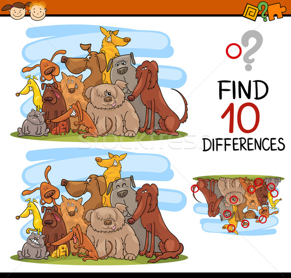differences task for kids Stock photo © izakowski