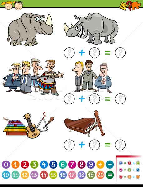 Matematico compito cartoon illustrazione educativo Foto d'archivio © izakowski